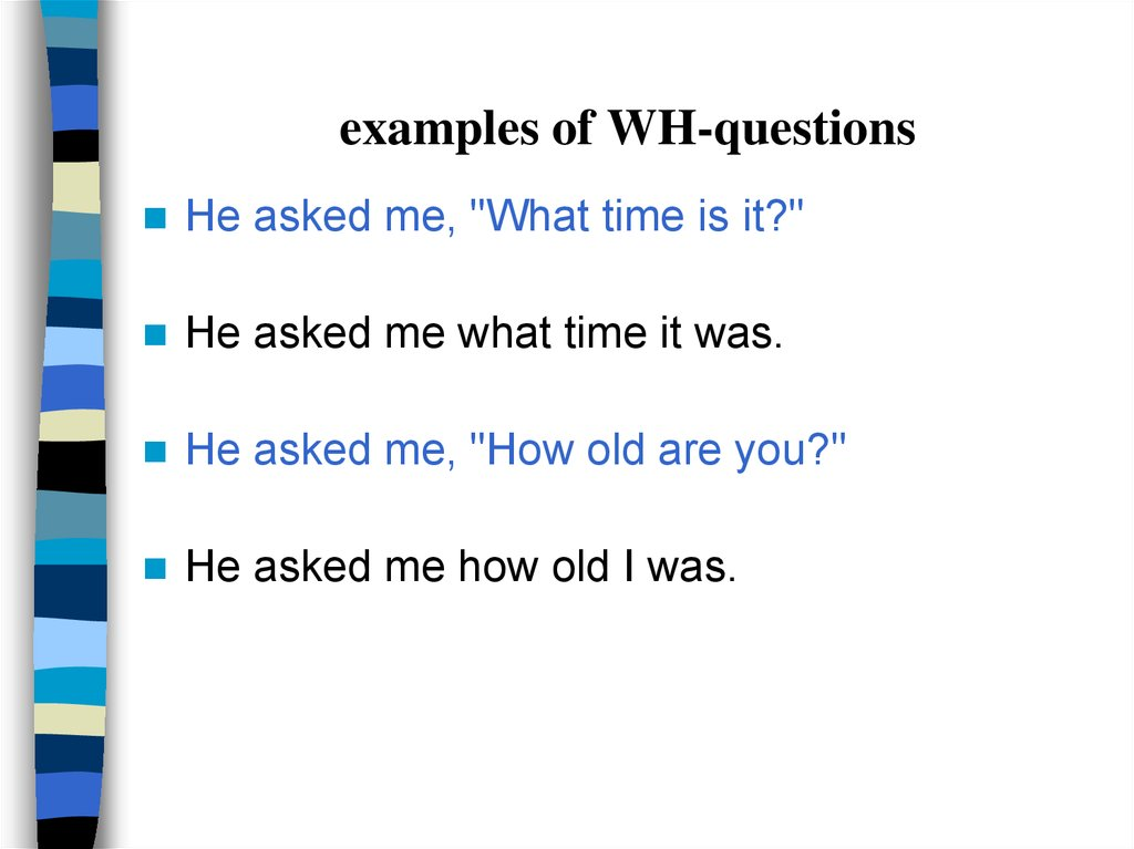 examples of WH-questions