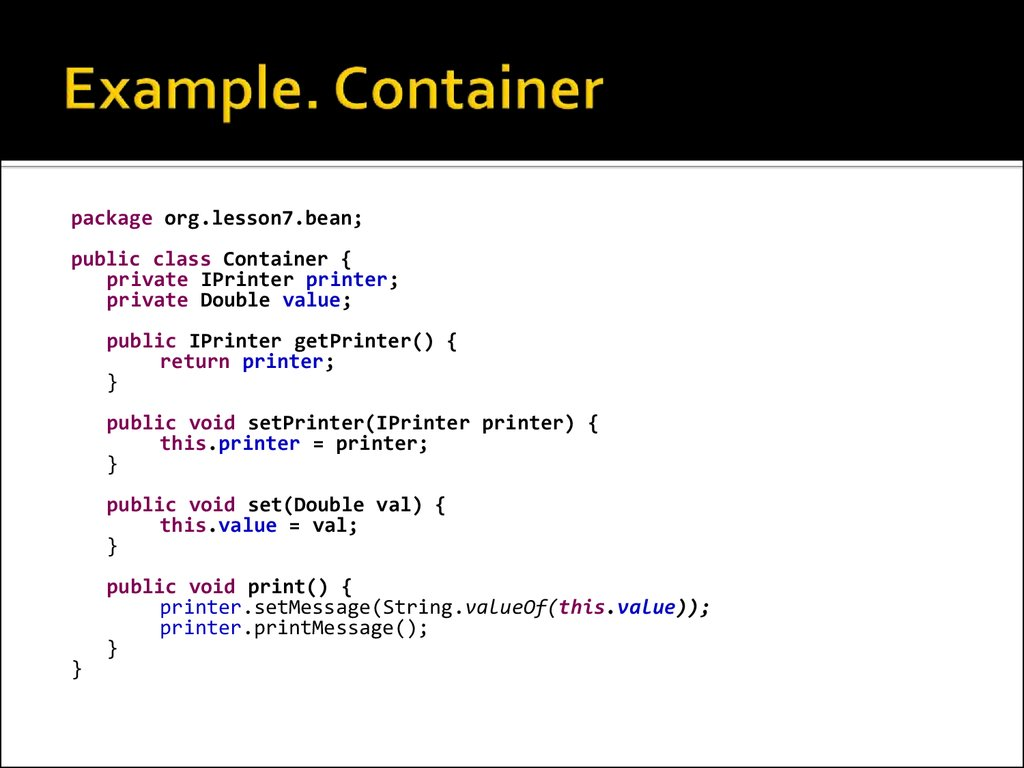 Example. Container