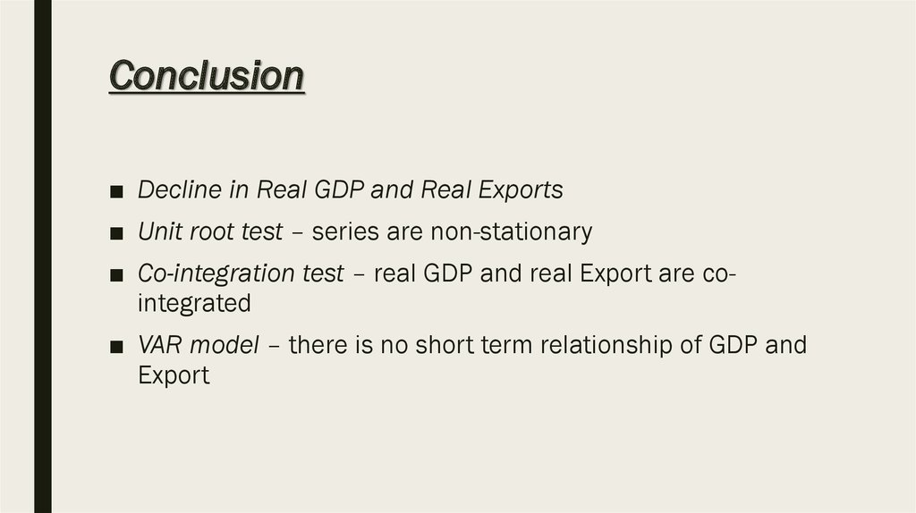 conclusion of gdp