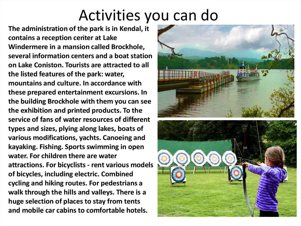 Activities you can do