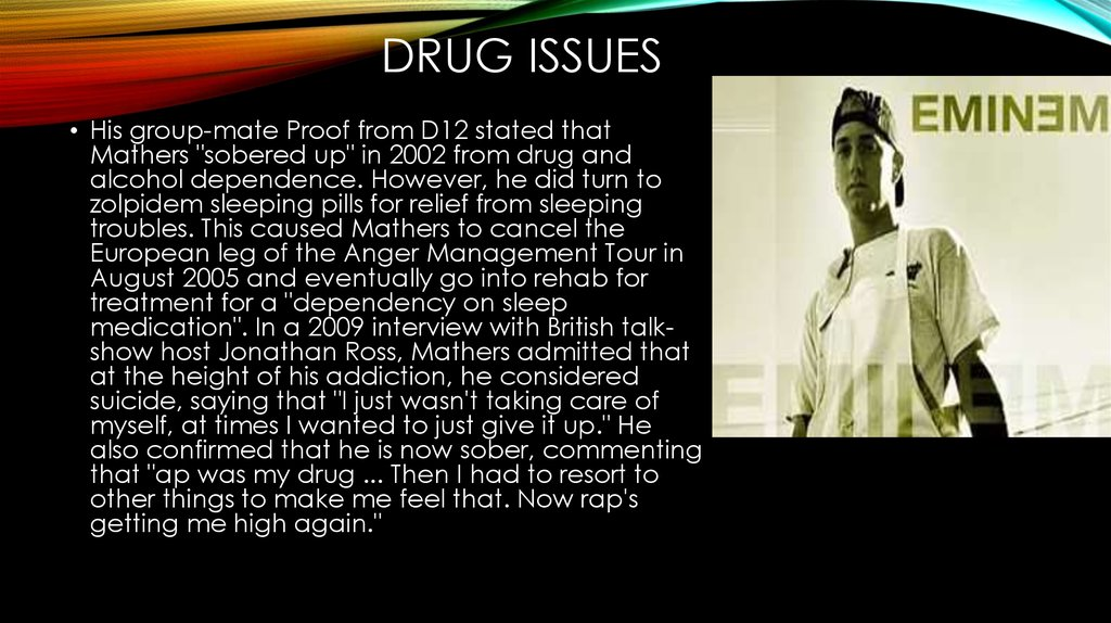 Drug issues
