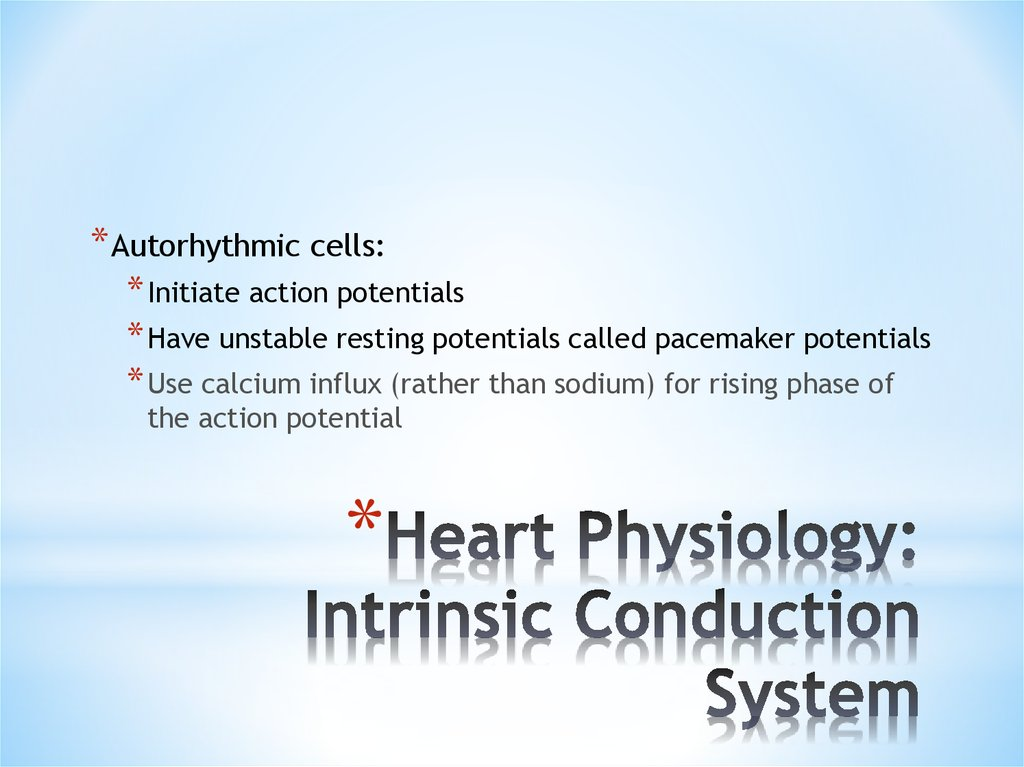 Heart Physiology: Intrinsic Conduction System