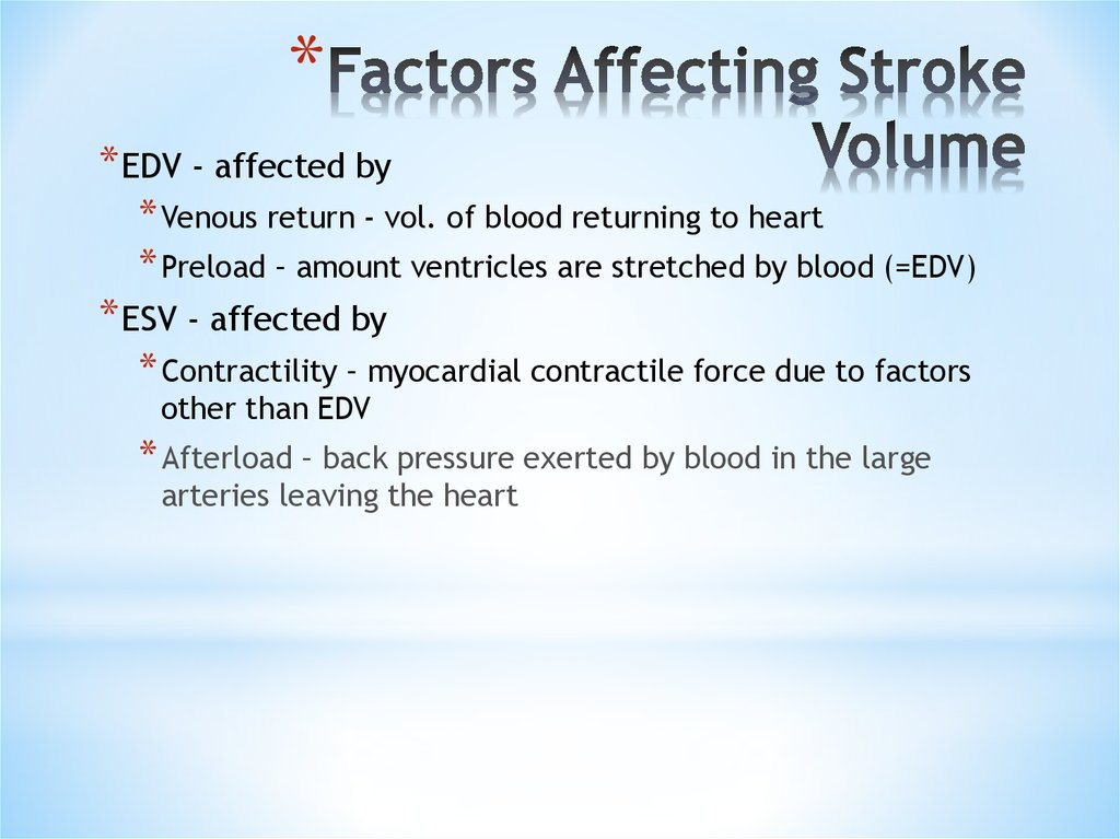 studying the effect of stroke volume on pump activity In order to study the pressure gradient, you will observe how blood flows at a given pressure, then change the pressure to observe the effects of the change on the blood.