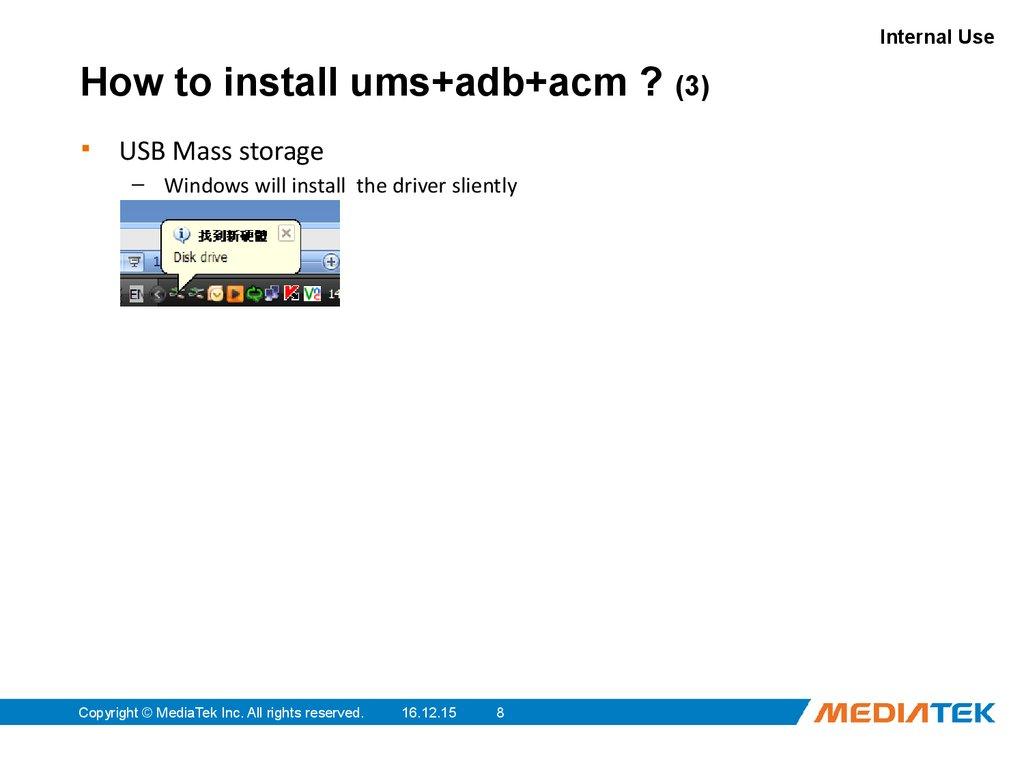 driver mediatek mtk usb mass storage