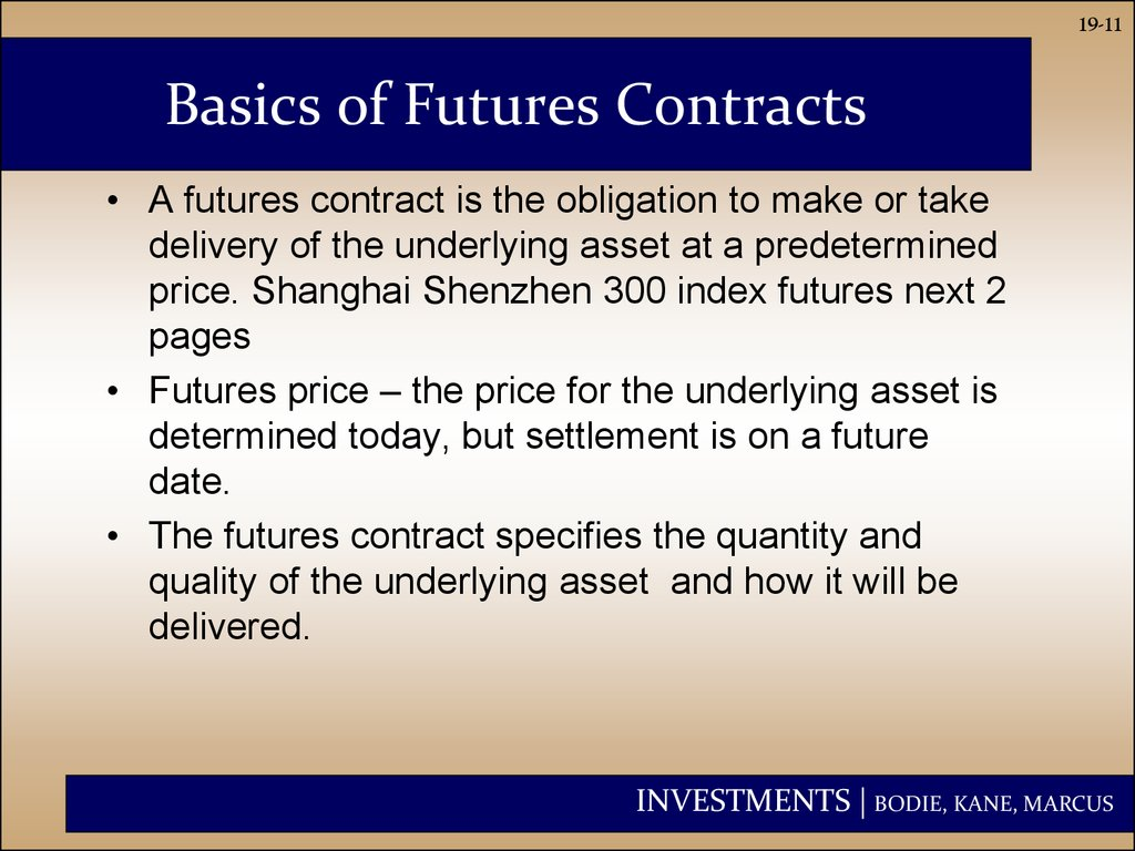 Basics of Futures Contracts