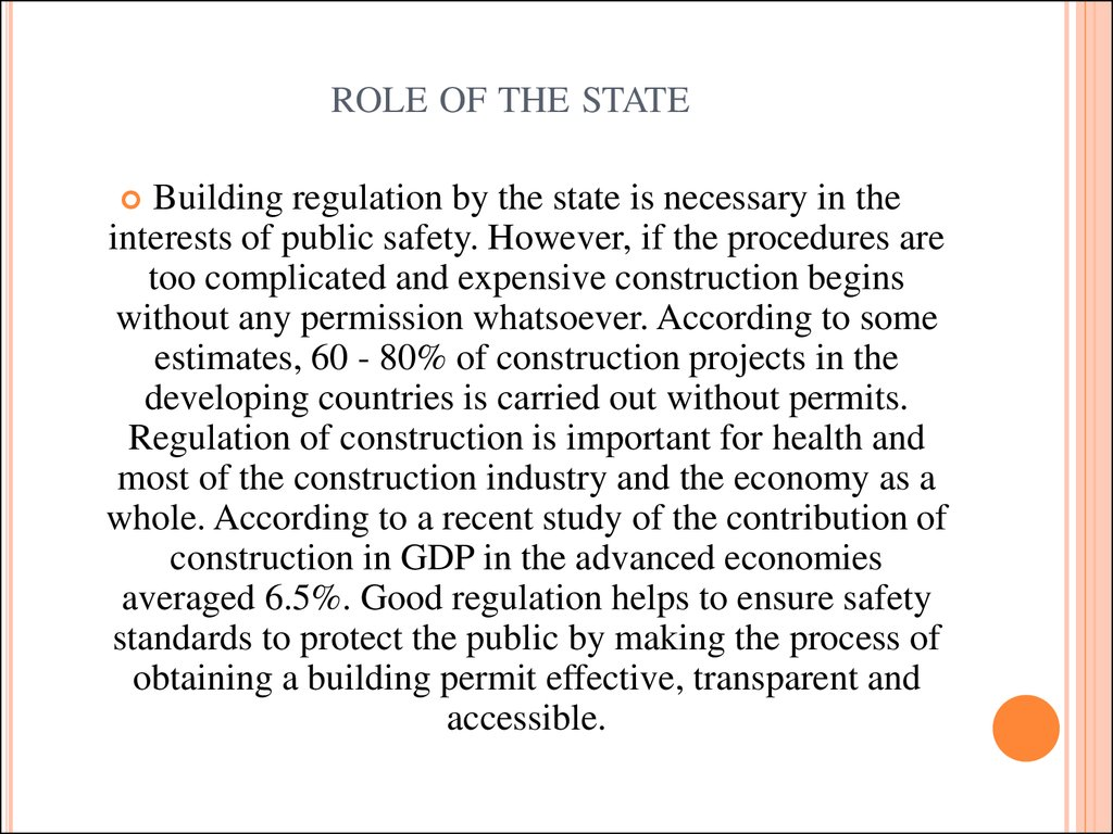 role of the state