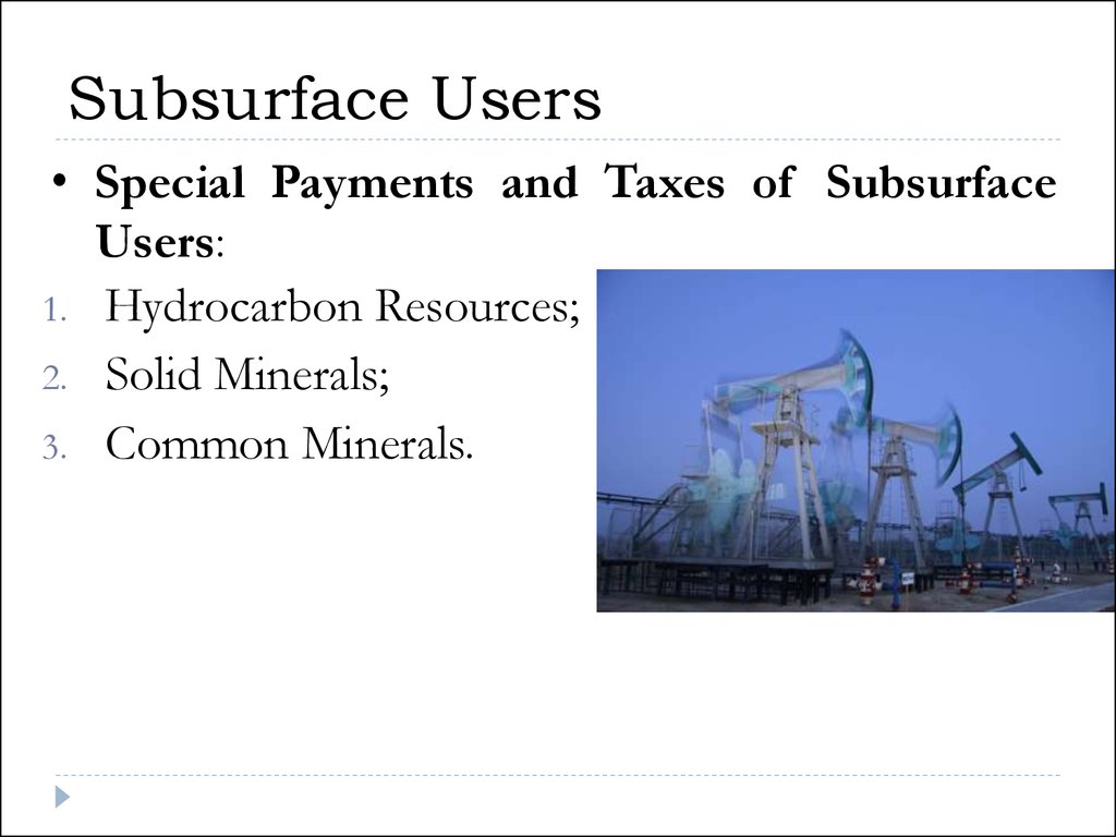Subsurface Users