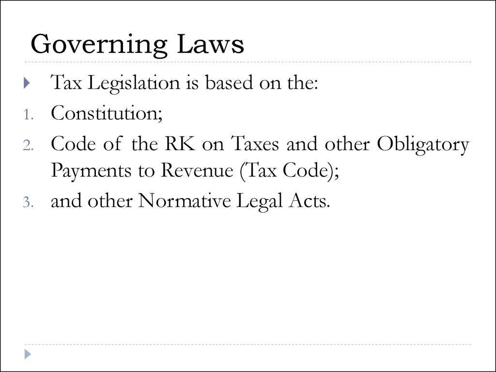 Governing Laws