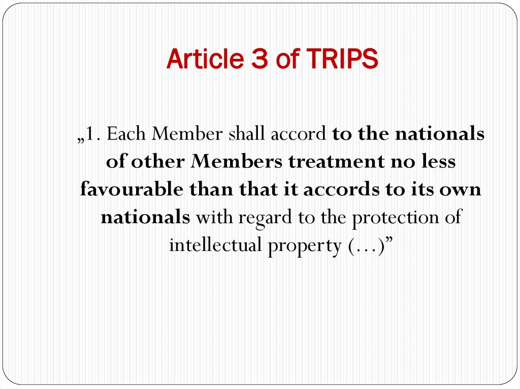 Article 3 of TRIPS