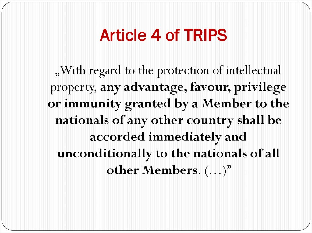 Article 4 of TRIPS