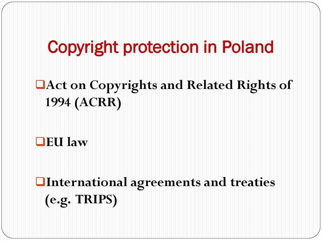 Copyright protection in Poland