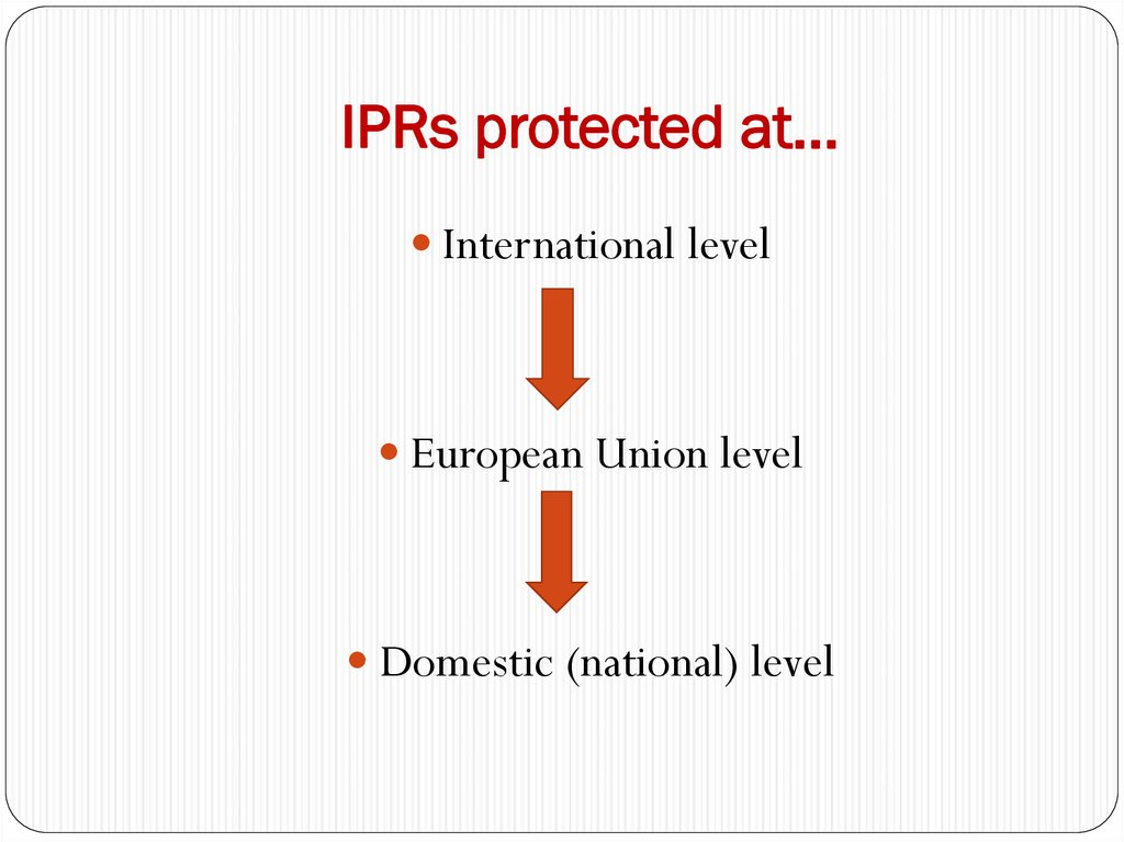 IPRs protected at…