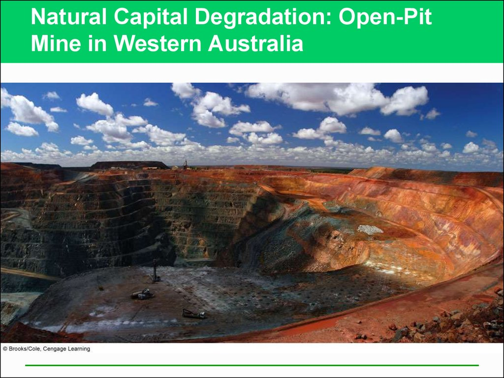 Natural Capital Degradation: Open-Pit Mine in Western Australia