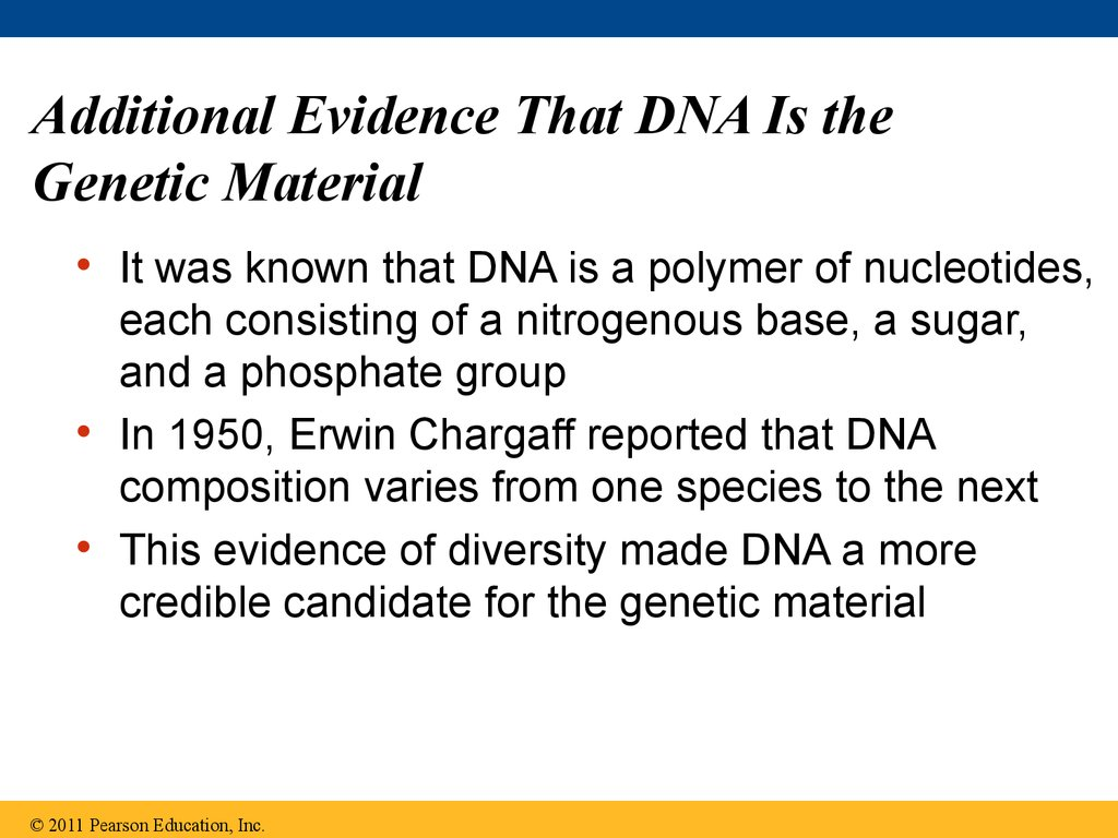Additional Evidence That DNA Is the Genetic Material