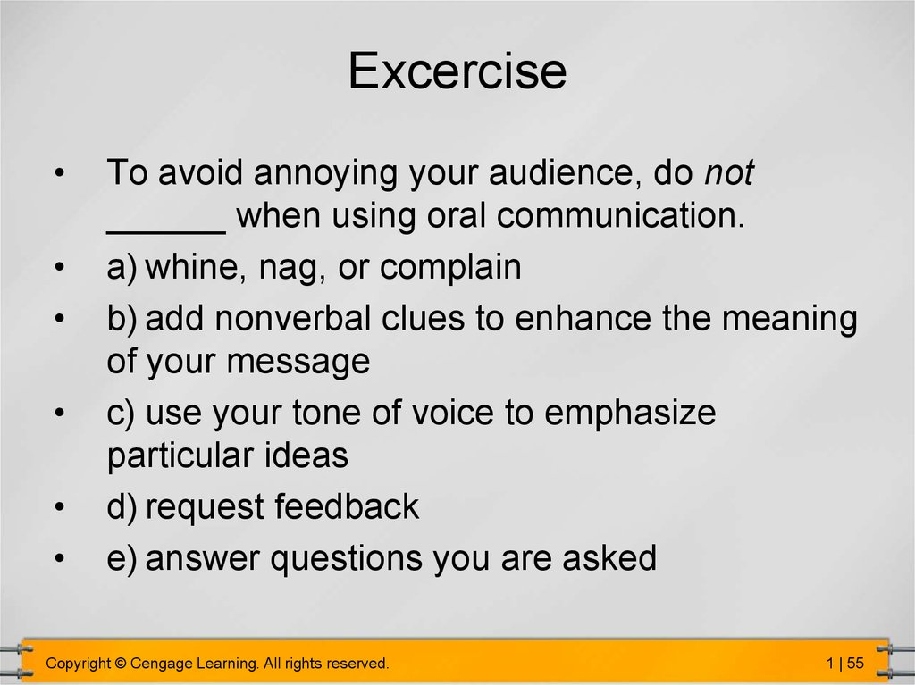 ways of oral communication