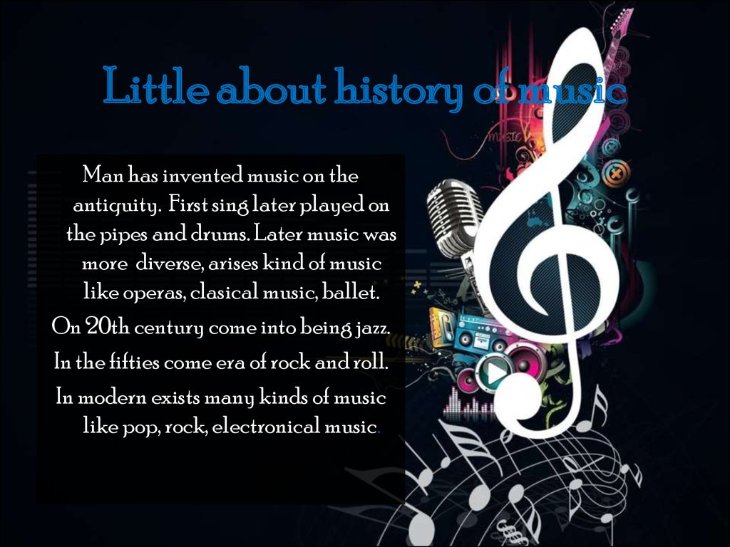 Little about history of music