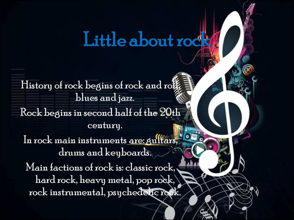 Little about rock