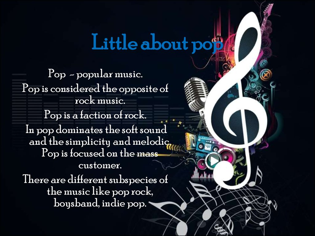 Little about pop