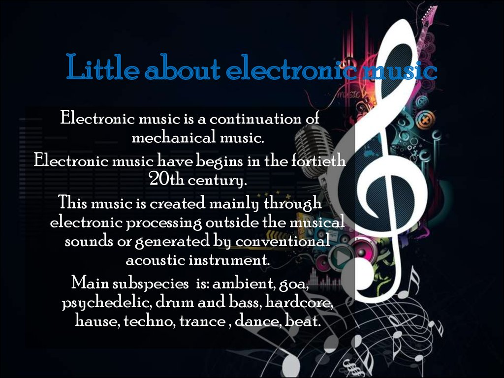 Little about electronic music