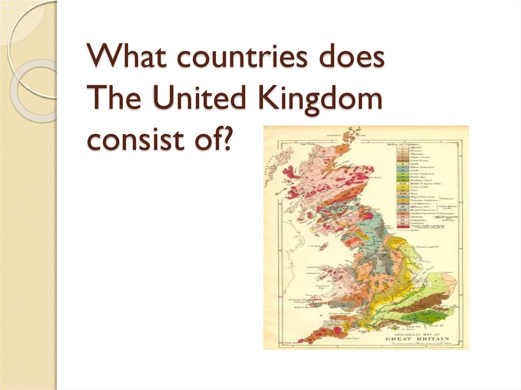 What countries does The United Kingdom consist of?
