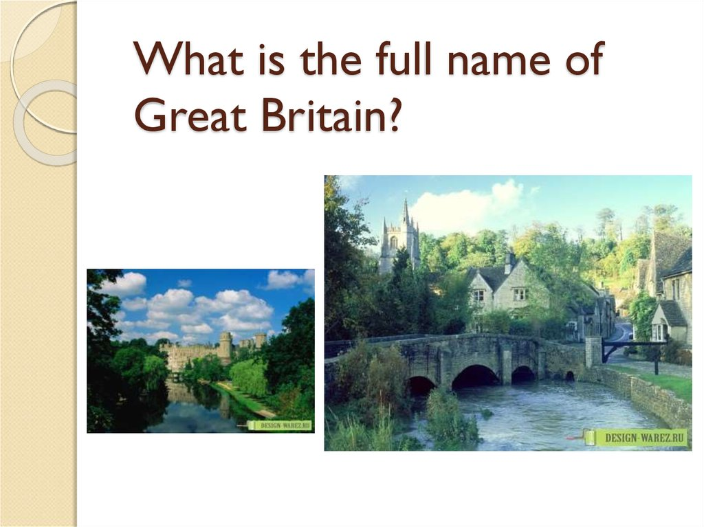 What is the full name of Great Britain?