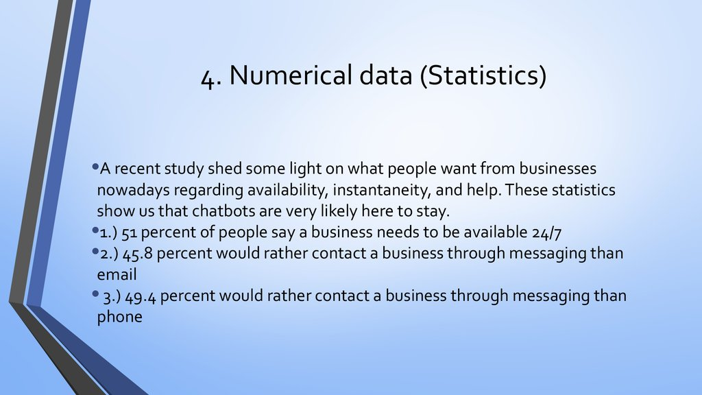 4. Numerical data (Statistics)