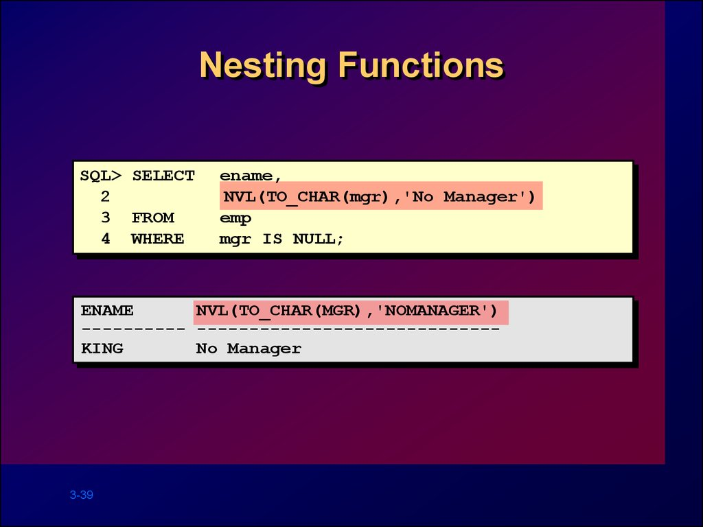 Nesting Functions