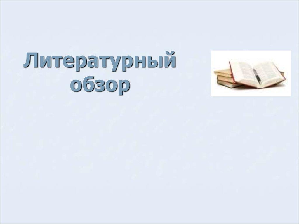 Литературный обзор презентация онлайн Литературный обзор