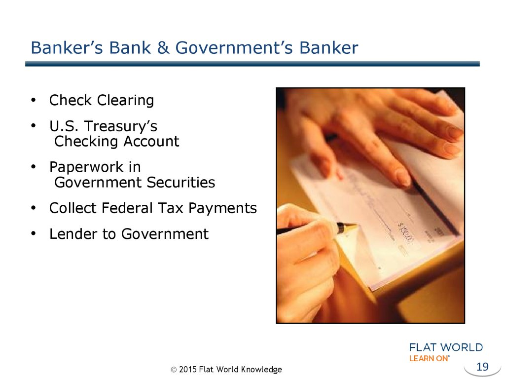 Banker's Bank & Government's Banker