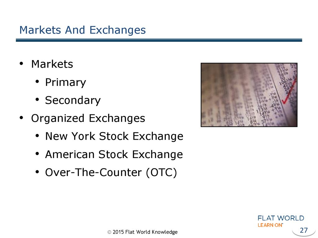Markets And Exchanges