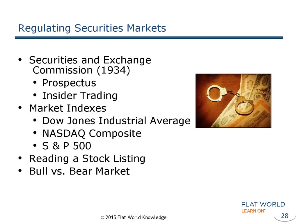 Regulating Securities Markets