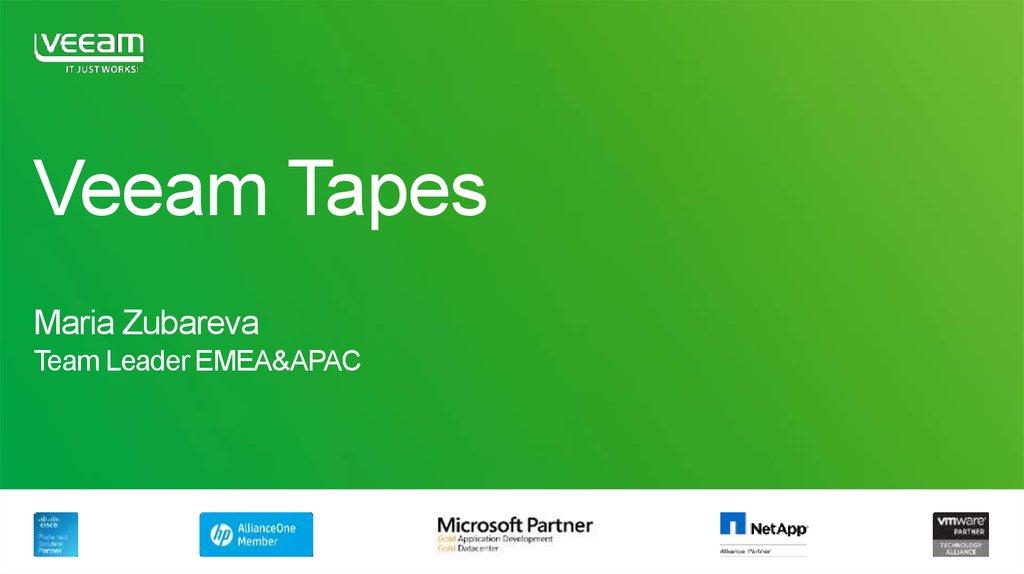Veeam Tapes - online presentation