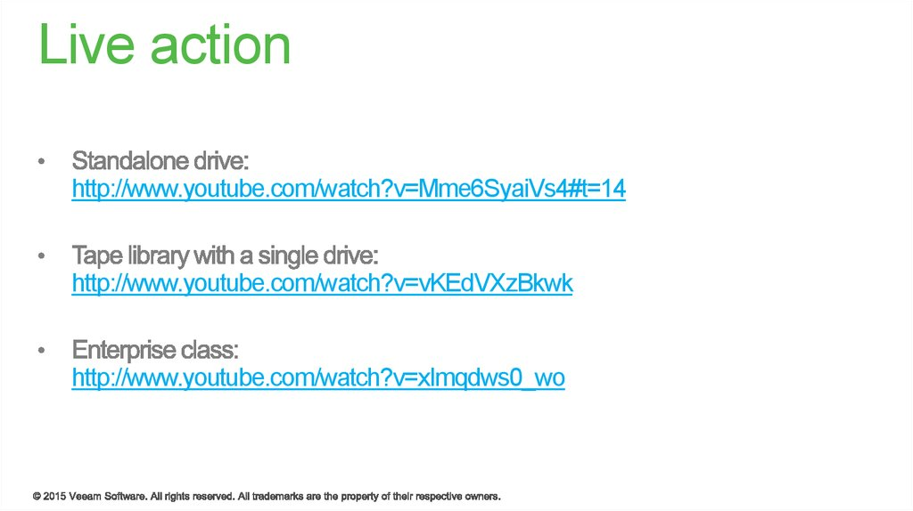 Veeam Tapes - online presentation