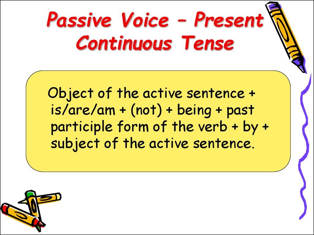 Present continuous tense - online presentation