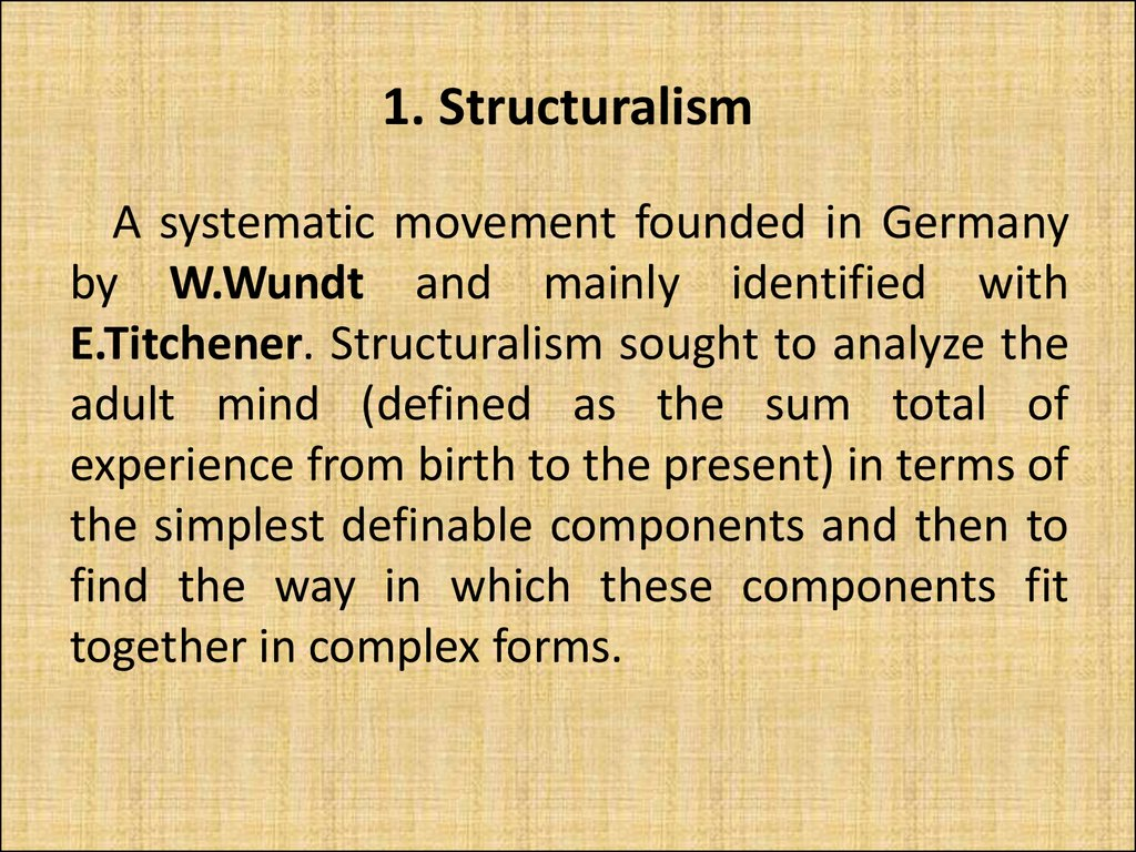 1. Structuralism