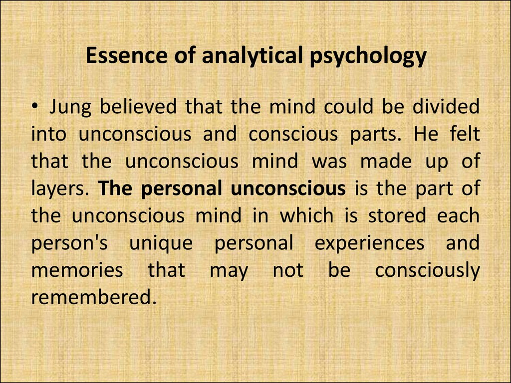 Essence of analytical psychology