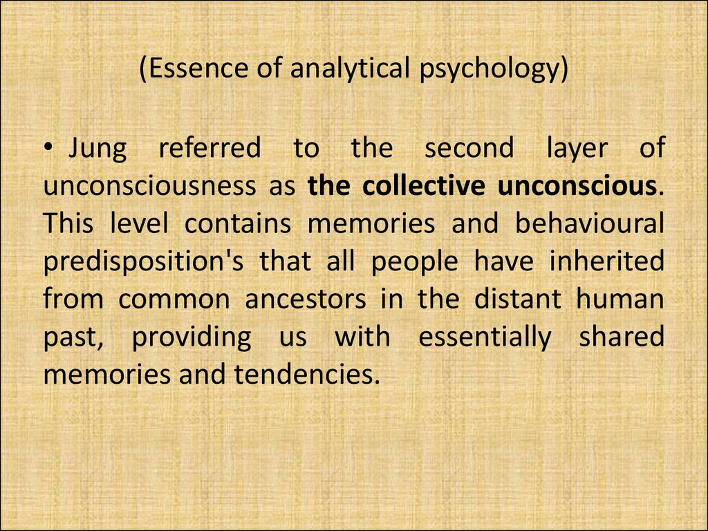 (Essence of analytical psychology)