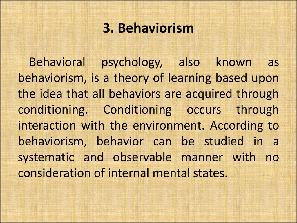 3. Behaviorism