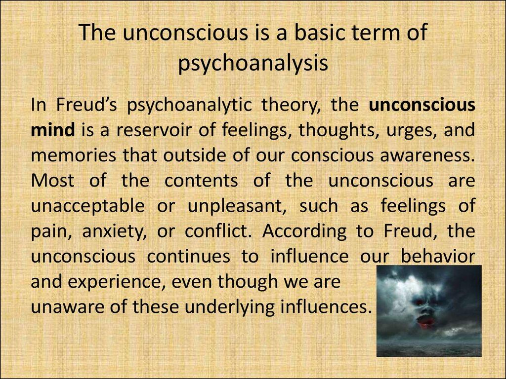 psychoanalytic school of thought