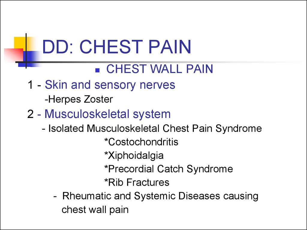 DD: CHEST PAIN