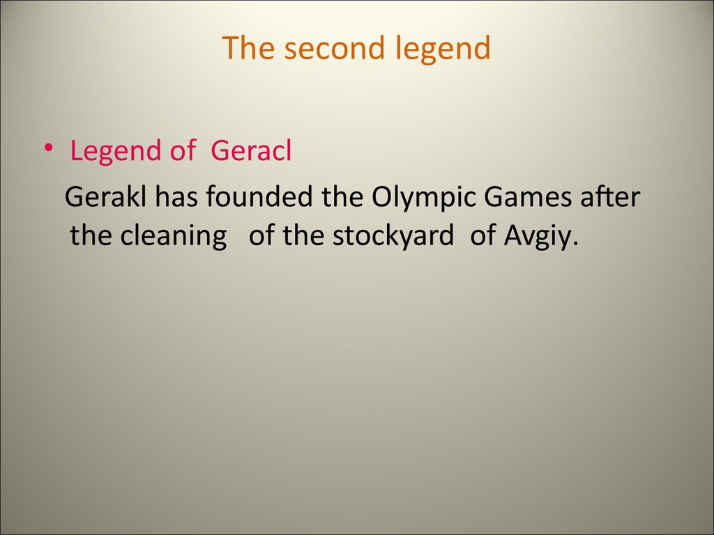 The second legend