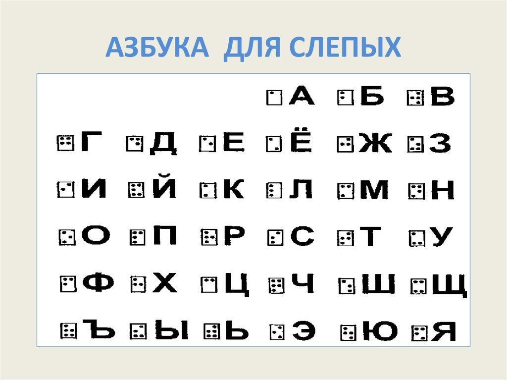 вариант алфавит для слепых картинки попыталась