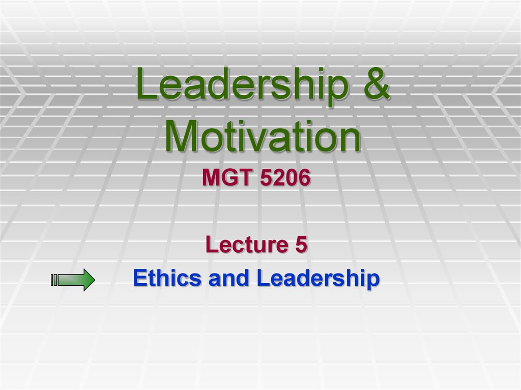 leadership as motivators As a leader, you need to interact with your followers, peers, seniors, and others, whose support you need in order to accomplish your objectives to gain their support, you must be able to understand and motivate them.