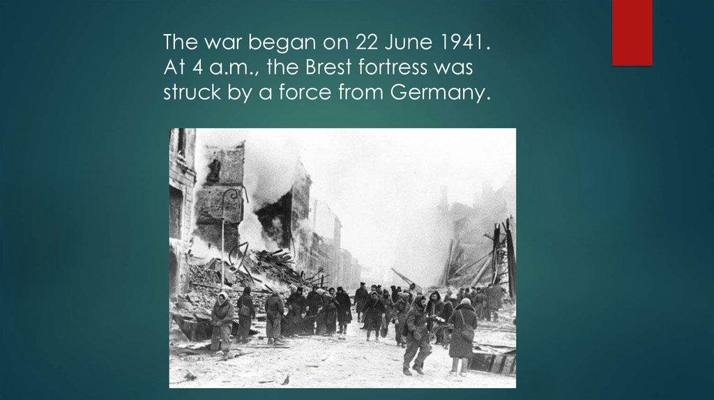 The second world war - online presentation