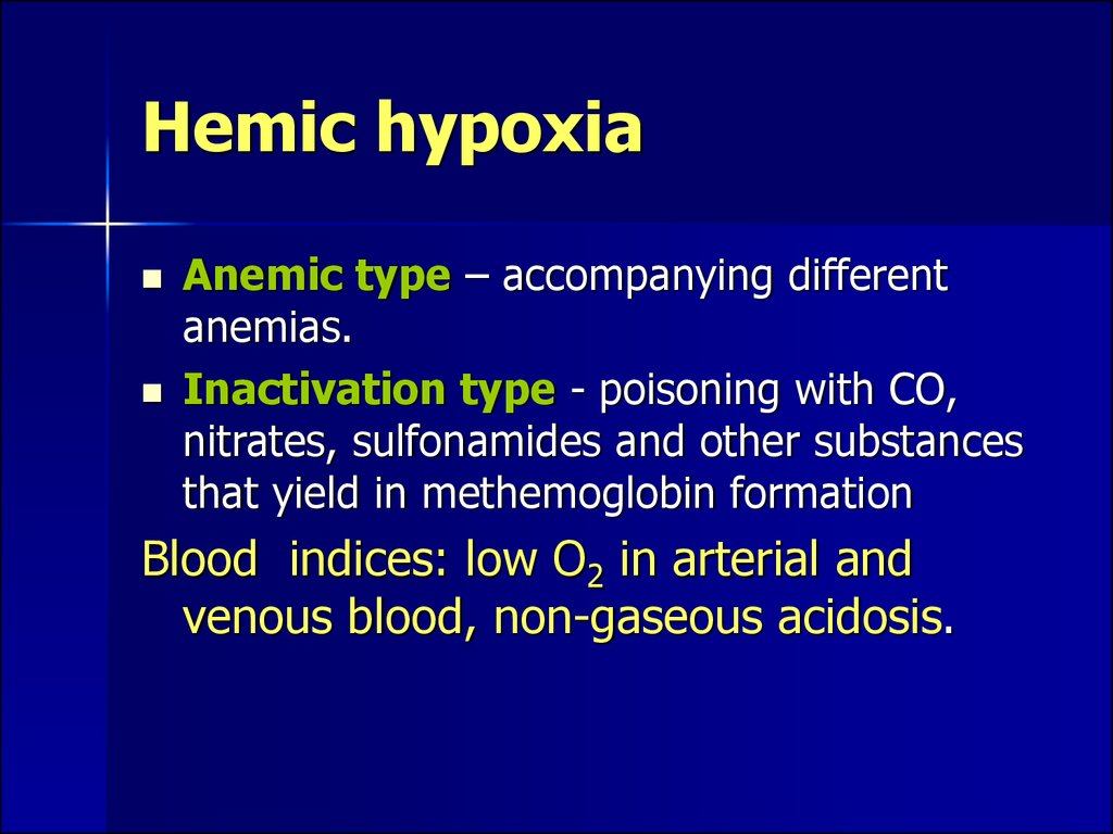 Hemic hypoxia