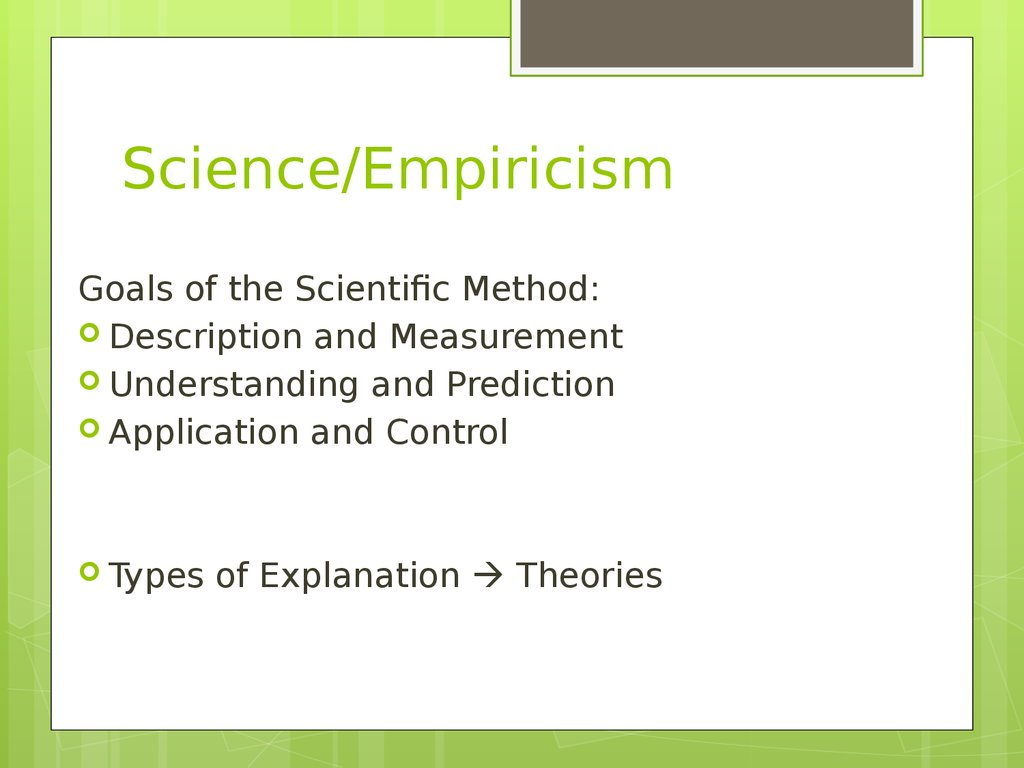 empiricism and empirical methods Empirical research is research using empirical evidence it is a way of gaining knowledge by means of direct and indirect observation or experience empiricism values such research more than other kinds empirical evidence.
