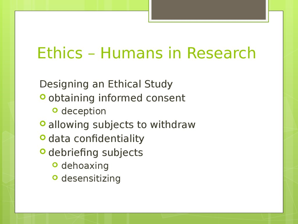 psychology research ethics case studies Three discussions of psychological studies frequently cited in undergraduate texts that raise ethical questions about the responsible conduct of research.