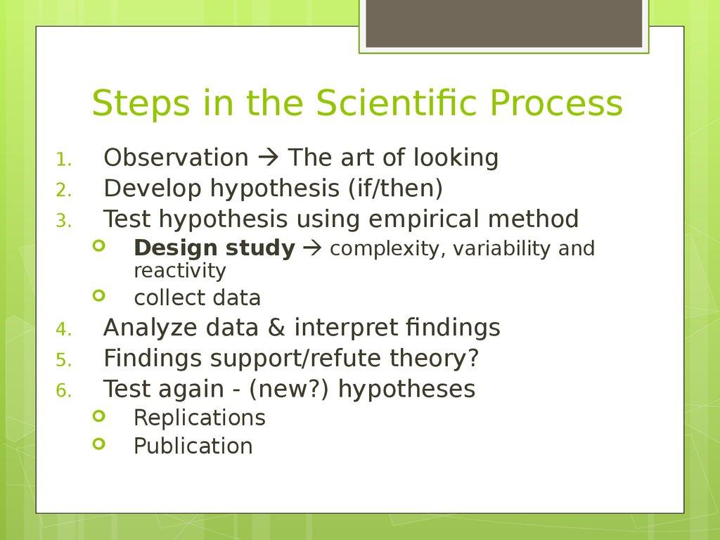 observations scientific process