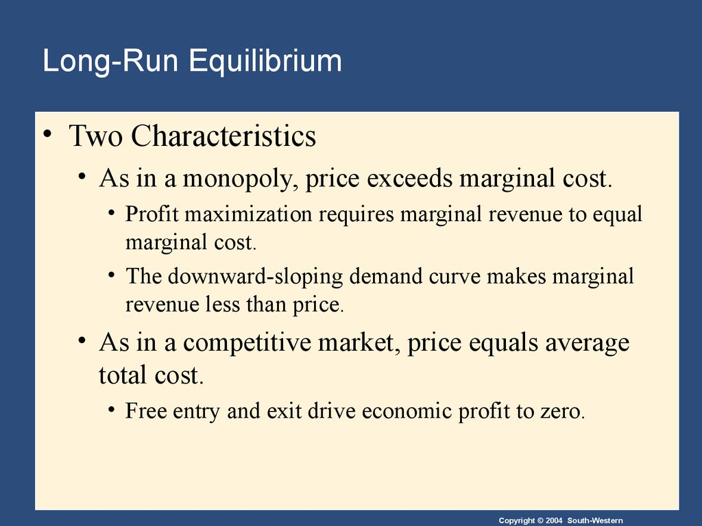 an overview of the characteristics of monopolistic competition