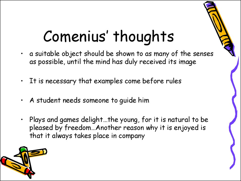 Comenius' thoughts